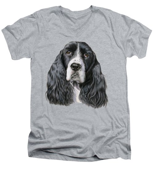 The Springer Spaniel Men's V-Neck T-Shirt by Sarah Batalka