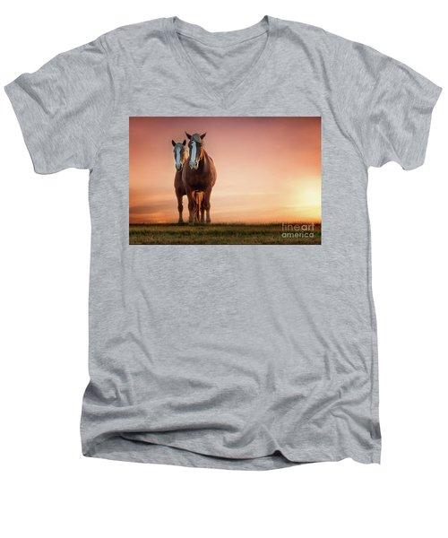 The Stallion And The Mare Men's V-Neck T-Shirt by Tamyra Ayles