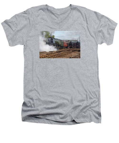 The Steam Railway Men's V-Neck T-Shirt