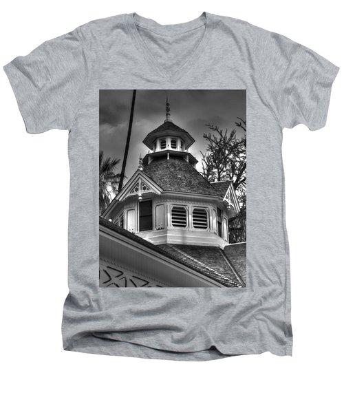 The Steeple Men's V-Neck T-Shirt by Richard J Cassato