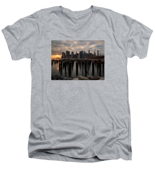 The Sticks Men's V-Neck T-Shirt by Anthony Fields