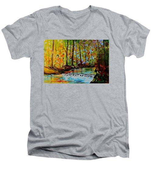 The Stream Men's V-Neck T-Shirt