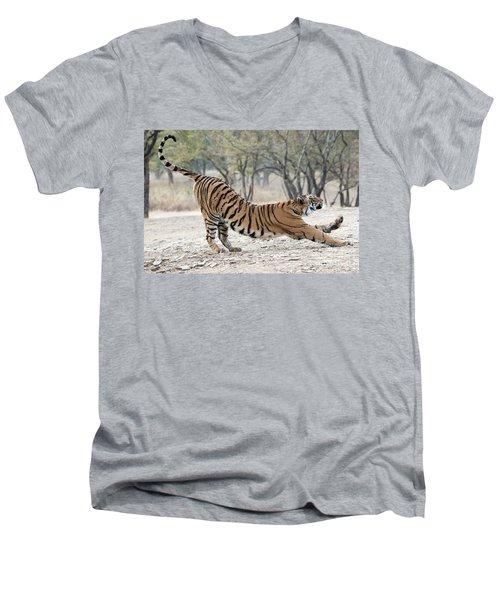 The Stretch Men's V-Neck T-Shirt by Pravine Chester