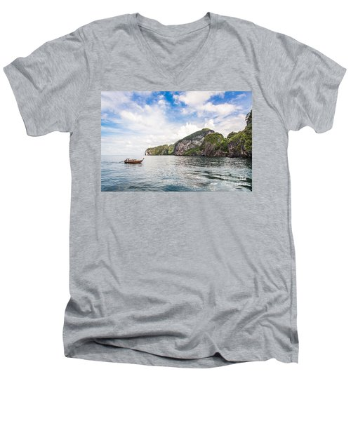 The Stunning  Koh Mook In The Trang Island Men's V-Neck T-Shirt