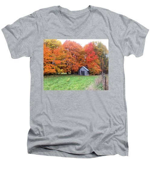 The Sugar Shack Men's V-Neck T-Shirt by Pat Purdy