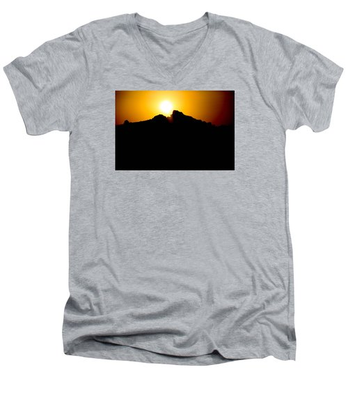 Men's V-Neck T-Shirt featuring the photograph The Sun Feeds Me by Jez C Self