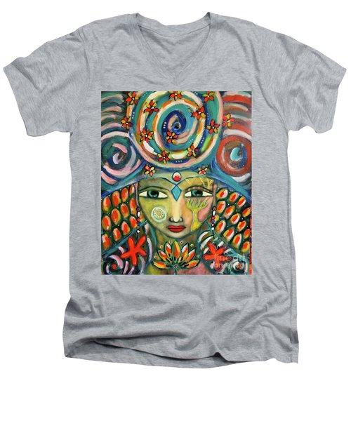 The Sun Goddess  Men's V-Neck T-Shirt