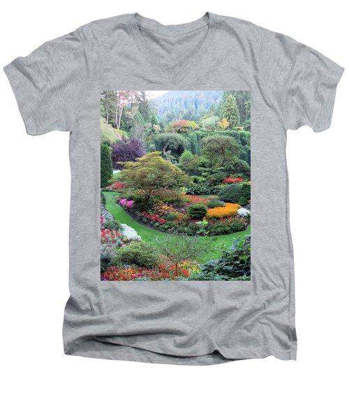 The Sunken Garden Men's V-Neck T-Shirt