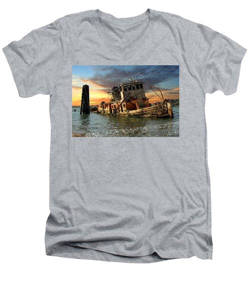 The Sunset Years Of The Mary D. Hume Men's V-Neck T-Shirt