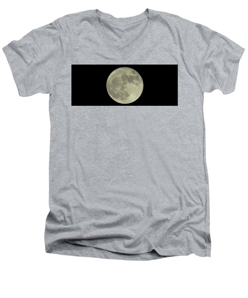Men's V-Neck T-Shirt featuring the photograph The Super Moon 3 by Robert Knight