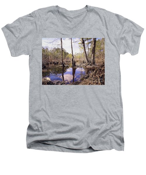 The Swamp Men's V-Neck T-Shirt by Melissa Messick
