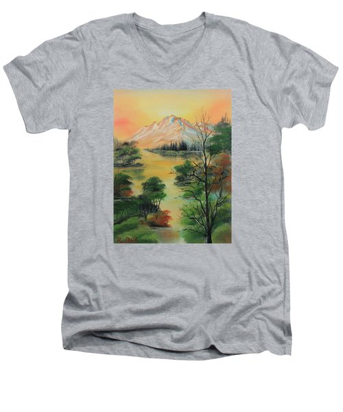 The Swamp 2 Men's V-Neck T-Shirt by Remegio Onia