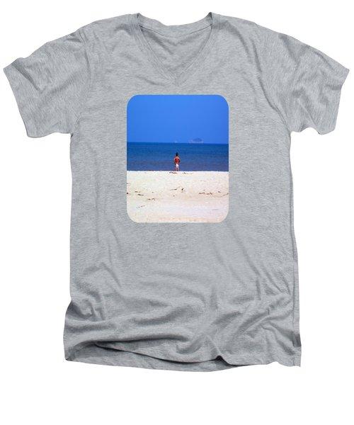 The Swimmer Men's V-Neck T-Shirt