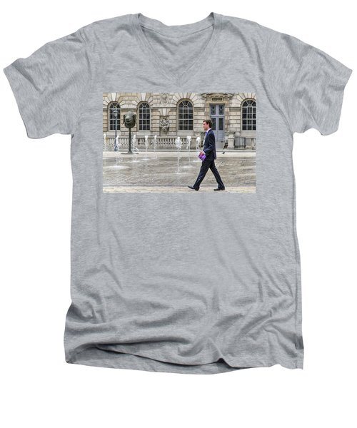 The Tax Man Men's V-Neck T-Shirt by Keith Armstrong
