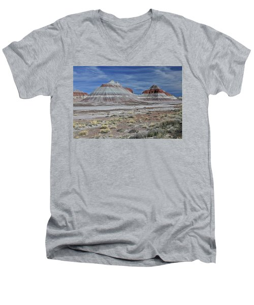 Men's V-Neck T-Shirt featuring the photograph the TeePees by Gary Kaylor
