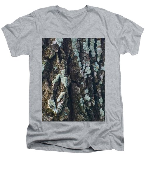 The Texture Is In The Trees1 Men's V-Neck T-Shirt