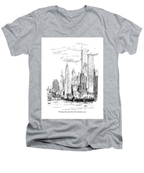 The Thing I Like About New York Men's V-Neck T-Shirt