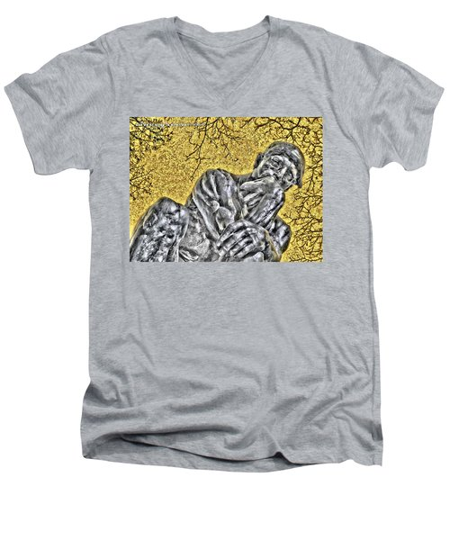 The Thinker - Study #1 Men's V-Neck T-Shirt