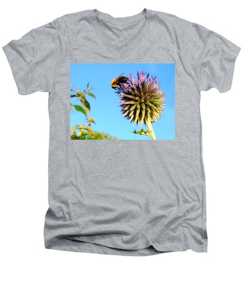 The Thistle And The Bee. Men's V-Neck T-Shirt
