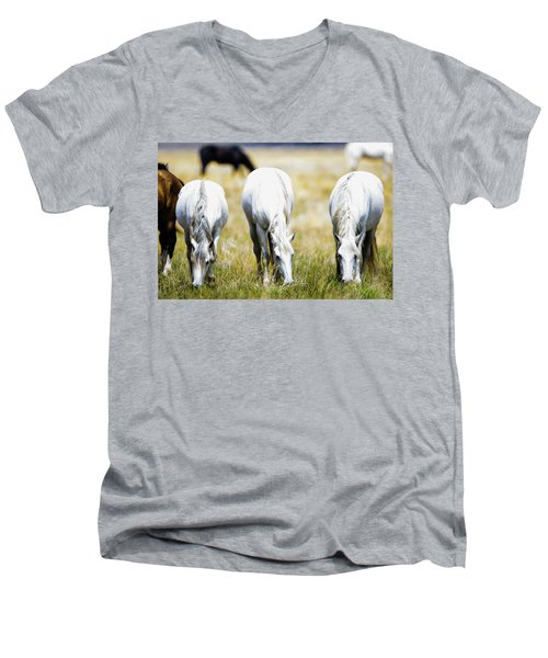 The Three Amigos Grazing Men's V-Neck T-Shirt