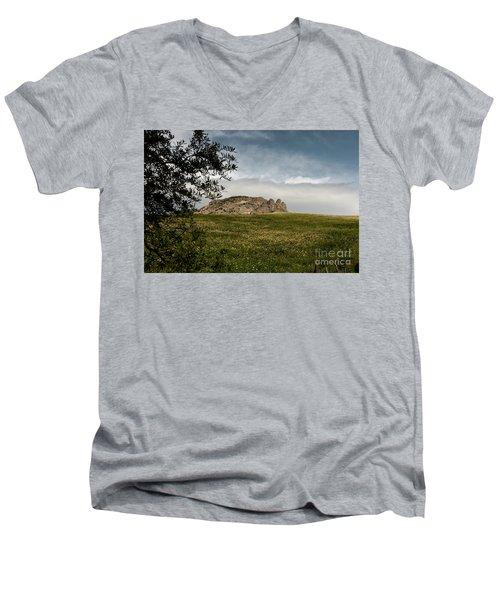Italy, Calabria, Cimina,the Three Fingers Men's V-Neck T-Shirt