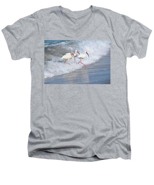 The Tide Of The Ibises Men's V-Neck T-Shirt