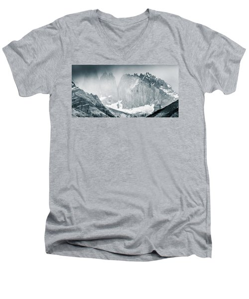 The Towers Men's V-Neck T-Shirt by Andrew Matwijec