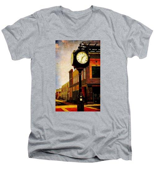 the Town Clock Men's V-Neck T-Shirt