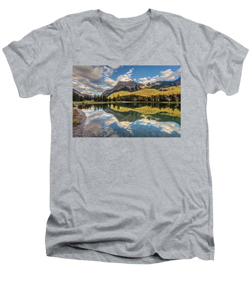 The Town Of Field In British Columbia Men's V-Neck T-Shirt by Pierre Leclerc Photography