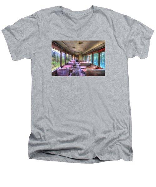The Tram Leaves The Station... Inside Men's V-Neck T-Shirt