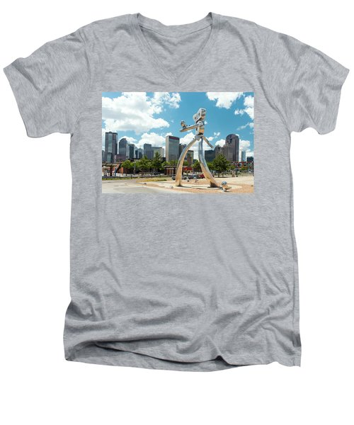 The Traveling Man Dallas 080618 Men's V-Neck T-Shirt