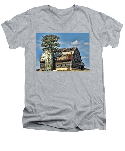 The Tree Silo Men's V-Neck T-Shirt