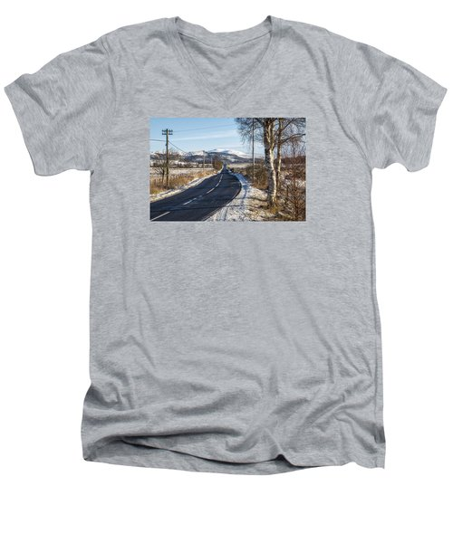 The Trossachs National Park In Scotland Men's V-Neck T-Shirt