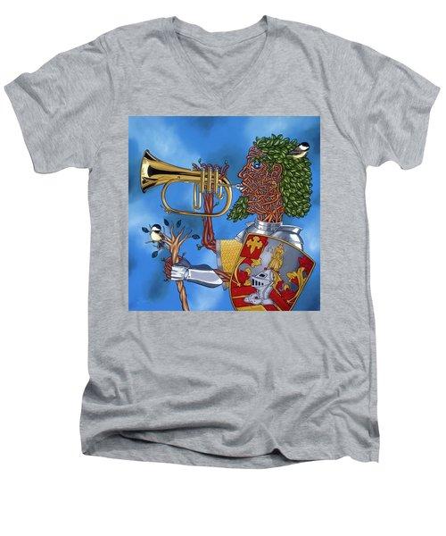 The Trumpiter Men's V-Neck T-Shirt