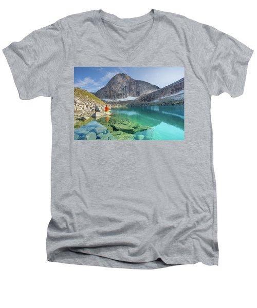 The Turquoise Lake Men's V-Neck T-Shirt
