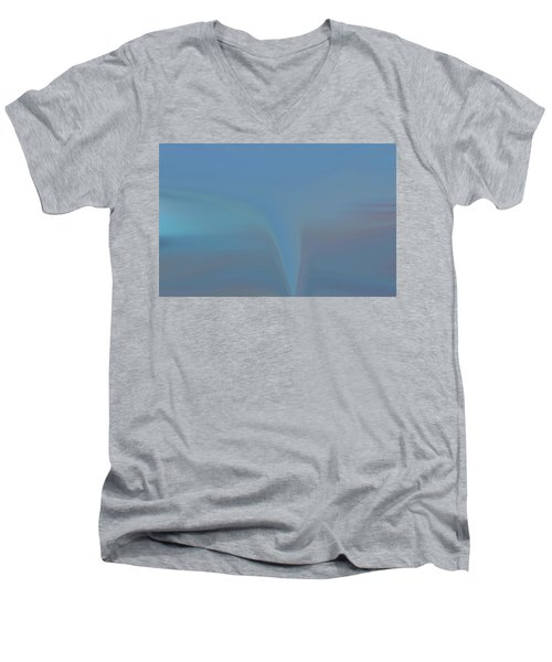 Men's V-Neck T-Shirt featuring the painting The Twister by Dan Sproul