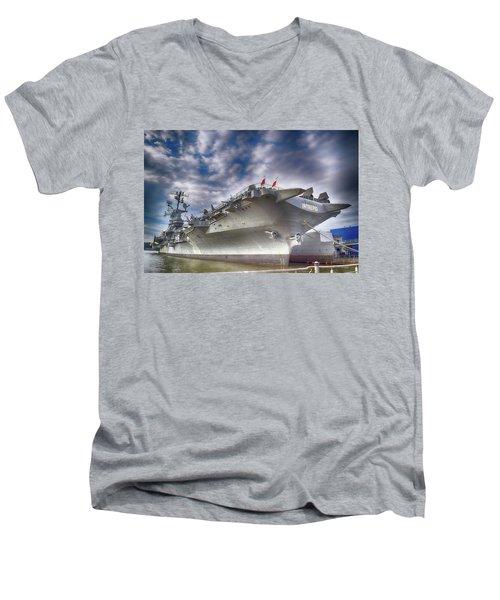 The U S S Intrepid  Men's V-Neck T-Shirt