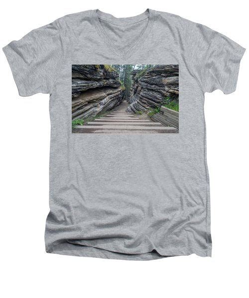 The Unknown Path Men's V-Neck T-Shirt by Alpha Wanderlust