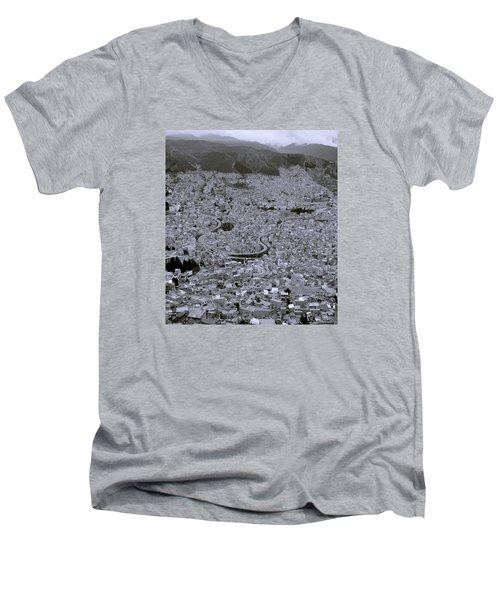The Urban City Men's V-Neck T-Shirt by Shaun Higson