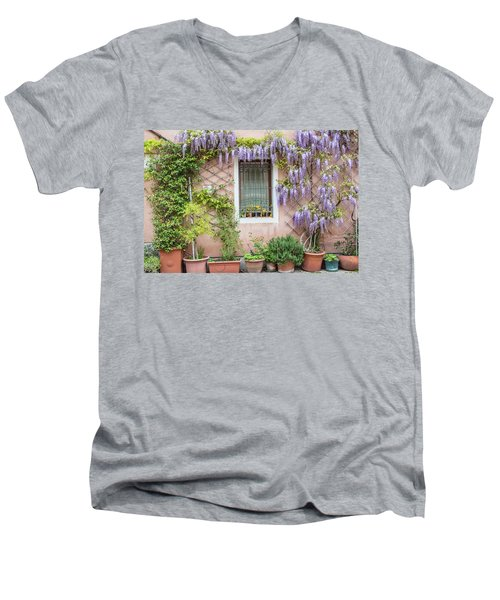 The Venice Italy Window  Men's V-Neck T-Shirt