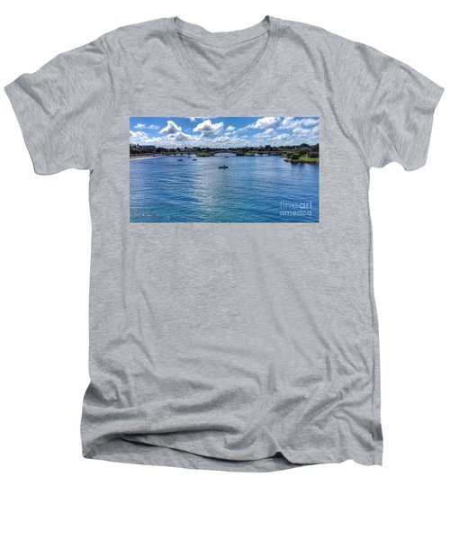 The Victorian Bridge Men's V-Neck T-Shirt