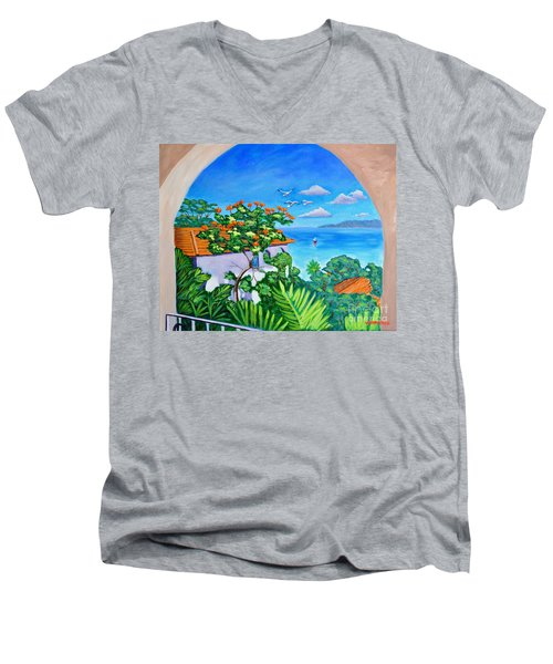 The View From A Window Men's V-Neck T-Shirt