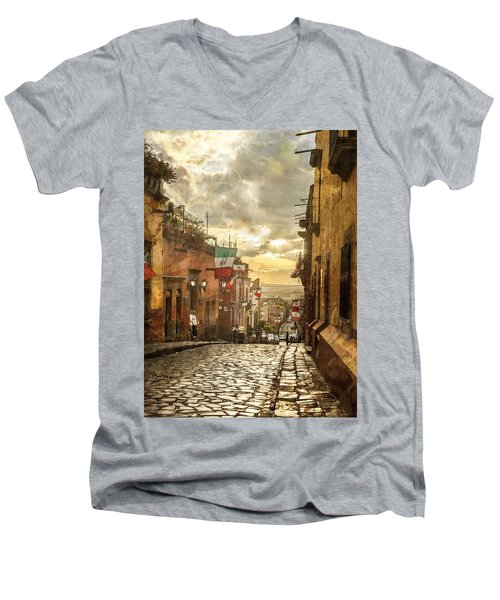 The View Looking Down Men's V-Neck T-Shirt