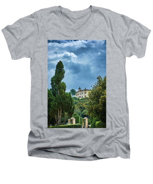 The Views From The Boboli Gardens Men's V-Neck T-Shirt