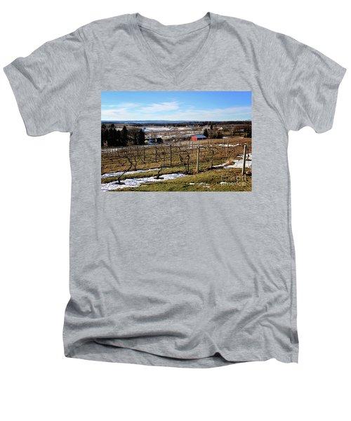 The Vineyard On Old Mission Men's V-Neck T-Shirt