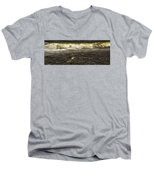 The Wading Willet  Men's V-Neck T-Shirt