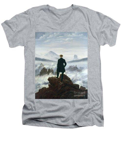 The Wanderer Above The Sea Of Fog Men's V-Neck T-Shirt
