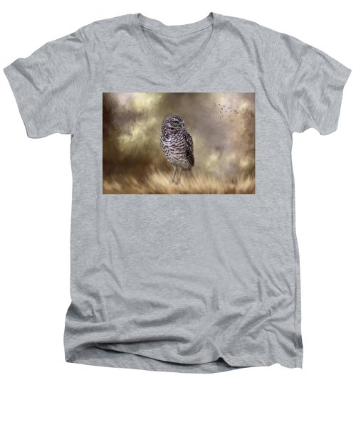 Men's V-Neck T-Shirt featuring the photograph The Watchful Eye by Kim Hojnacki