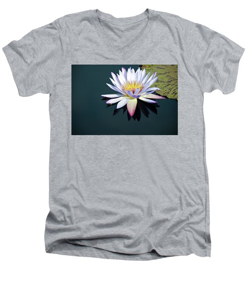 Men's V-Neck T-Shirt featuring the photograph The Water Lily by David Sutton