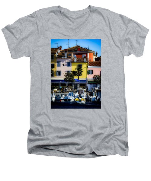 The Watercolors In Split Men's V-Neck T-Shirt
